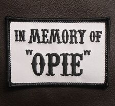 IN MEMORY OF OPIE AND OTHER NAME MILITARY BIKER OUTLAW IRON ON PATCH MADE IN USA
