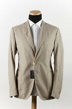 New 900$ FAY by TOD'S Cotton Jacket Sport Coat Herringbone Beige 2Btn 44US 54EU