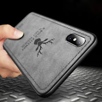 For iPhone XR XS Patterned Hybrid TPU Leather Case Soft Shockproof Cover