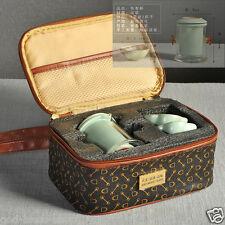Chinese porcelain portable travelling tea set bag office pot tea cup filter net