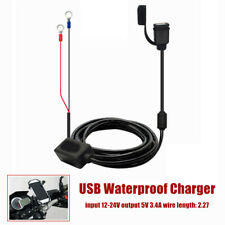 Universal 12v-24V USB Waterproof Charger Motorcycle Mobile Phone Charging Cable