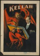 Harry Kellar Magician Satan Devil Magic Poster 19th Century, 7x5 Inch Reprint