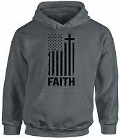 USA Flag Faith Unisex Hoodie Hooded Sweatshirt 4th of July Gift