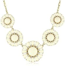 Kate Spade Glossy Garden Cream Necklace NWT Timeless Flower Chain! Glass Petals