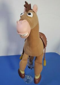 "RARE 16"" Disney Store Pixar Toy Story Galloping Sounds Plush BULLSEYE Horse"