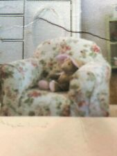 NEW Wendy Bellissimo Child Chair Slipcover Vintage Teaberry Cream W/Pink Flowers