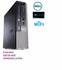 Dell  i3 3.3Ghz Desktop Tower PC Computer - 8GB RAM - 500GB HDD Windows 10