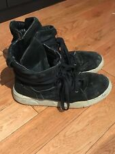 Diet Butcher Slim Skin Hi-top Sneakers Black Suede Sz 43-44