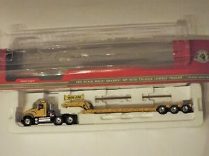 1:50 First Gear Item 3142: Mack Granite MP with Tri-Axle Lowboy Trailer, Dusty