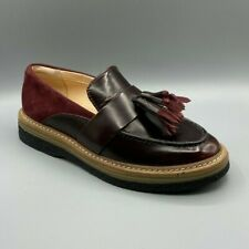 """NEW Clarks """"Zante Spring"""" Ladies Burgundy Brogues Shoes UK 4.5 D"""