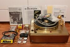 Empire turntable 398 gold, 98% mint,1 extra cartridge holder, manuals, extras