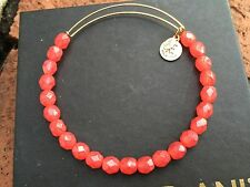 ALEX and ANI VINTAGE Singles Tangerine DECORATIF GOLD Beaded Bangle BRACELET