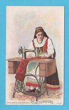 NATIONS - SINGER SEWING - RARE NATIONS / ADVERTISING CARD -  WURTEMBURG  - 1894