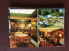 F1e postcard unused hotel restaurant riche amsterdam garden interior