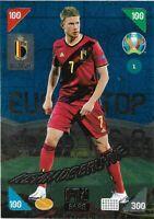 PANINI ADRENALYN XL EURO 2020 2021 KICK OFF KEVIN DE BRUYNE TOP MASTER NO 1