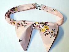 Handmade Blush Pink Floral Bow tie Vintage style 70's Gift 4 Him Wedding Pre-tie