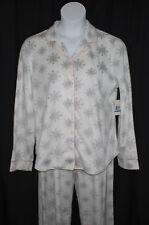Nautica Pajama Set PJs Pants Shirt Snowflakes Super Soft Christmas New NWT XL