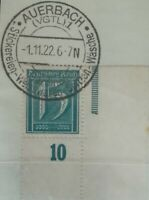 Infla 15Pf Ziffer 1921 WZ 1 Sonderstempel Mi.Nr:160 PEcke UR