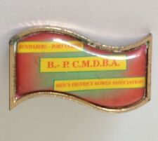 Bundaberg Port Curtis Bowling Club Badge Pin Vintage Lawn Bowls (L25)