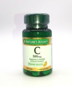 Nature's Bounty Vitamin C 500 mg Supports Healthy Immune System 100 Tablets