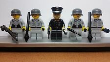 Lego WW2 GERMAN Light Bluish Gray Infantry Soldiers MINIFIGS Weapons Tank NEW