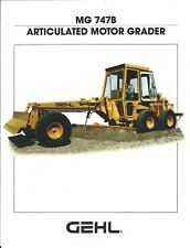 Equipment Brochure - Gehl - Mg 747B - Articulated Motor Grader - 1991 (E4864)