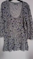 PER UNA SIZE18 BUST 40.. FLORAL PRINT, 3/4 SLEEVES, SUMMER