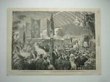 GRAVURE 1858. BRESIL. INAUGURATION CHEMIN DE FER DE DON PEDRO, A RIO DE JANEIRO.