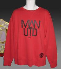 Nuevo Nike Club de fútbol Manchester United MUFC Algodón Sudadera Rojo Grande
