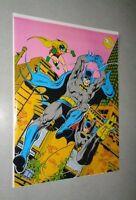 1979 Original DC Comics BATMAN/BATGIRL/ROBIN comic book pin-up poster:JLA/1970's
