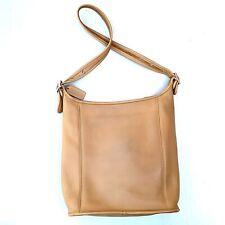 VTG Coach 9060 Leather Bucket Shoulder Bag Caramel Brown Beige