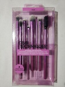 Real Techniques Everyday Eye Essentials 8 must have brushes 01991 Free S&H