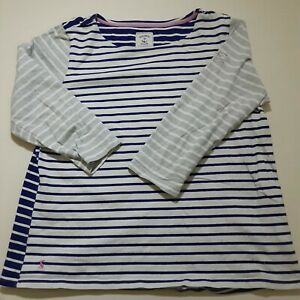 Joules Ladies Jumper Blue & White 3/4 sleeved  sweater Top Size 18