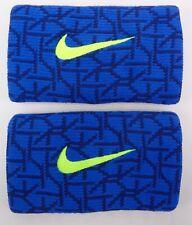 Nike Baseball Doublewide Wristbands Blue/Volt Men's Women's