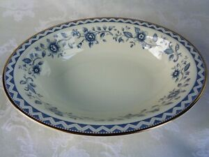 Royal Doulton English Fine Bone China Josephine Gold Trim Oval Vegetable Bowl