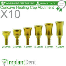 10 Standard Concave Titanium Healing Cap Abutment Internal Hex Dental Implant