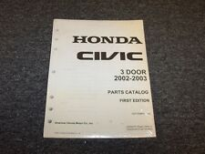 2002-2003 Honda Civic Hatchback Factory Parts Catalog Manual DX LX EX GX Si 1.7L