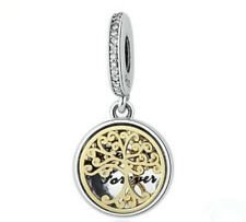 NEW Fashion Gold Tree European CZ Charm Spacer Beads Fit Necklace Bracelet DIY