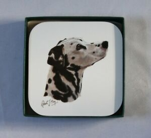 SET OF 4 ROBERT MAY COASTERS DALMATION