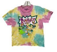 Nickelodeon Women's Rugrats Characters Tie Dye Licensed Crop Top T-Shirt New