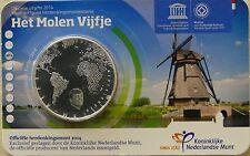 5 EURO PAYS-BAS 2014 UNC - MOULINS A VENT DE KINDERDIJK, PATRIMOINE MONDIAL