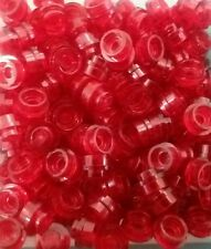 *NEW* Lego Red 1x1 Round Caps Plates Weapons Lights Space Ships Cars - 20 pieces