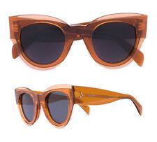 CELINE Petra Sunglasses in Transparent Orange Acetate CL 41447/S
