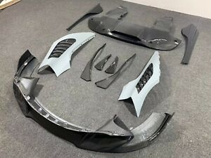 MCLAREN 720S V STYLE CARBON FIBER BODY KIT FRONT LIP FENDER DIFFUSER SIDE SKIRT