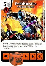 050 DEATHSTROKE Weapons Master -Common- JUSTICE LEAGUE - DC Dice Masters