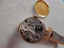 Antique solid 9ct gold Rolex ladies watch, working