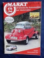 Messerschmitt Karo 1953 - Titel-Story auf 9 Seiten - Oldtimer Markt Heft 6/1986