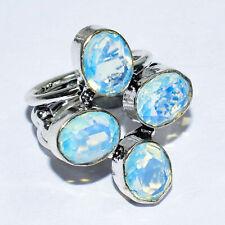 Bohemian Blue Topaz Gemstone 925 Silver Jewelry Ring 7