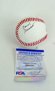 Carol Burnett Show Legendary Actress Signed Autograph Baseball PSA/DNA COA