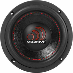 "New! Massive Audio GTX64 500 Watts Max 6"" Inches Dual 4 Ohm Car Audio Subwoofer"